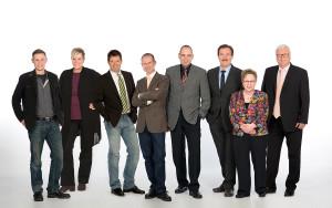 Plätze 9-16, von links nach rechts: Sebastian Hartung, Karola Regnet, Markus Walter, Markus Braun, Jochen Reitmeier, Edward Sommer, Juliane Salcher, Jürgen Witt