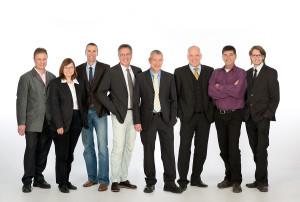 Plätze 17-24, von links nach rechts: Michael Haas, Suzanne Hinreiner, Mario Sacher, Joachim Hollegger, Wolfgang Waldner, Alexander Metreweli, Alfons Tutsch, Thomas Entian